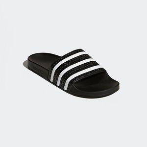 Adidas zapatos hombre  originales adilette diapositivas negro poshmark
